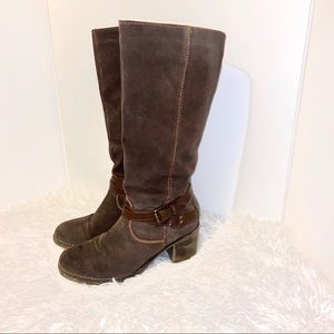 Bjorndal Piper Suede Riding Boots with Heel Brown
